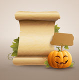Happy Pumpkin Message Stock Photography