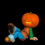 Happy Pumpkin Scarecrow 1 Stock Images