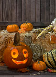 Happy Pumpkin Stock Photo