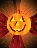 Happy Pumpkin on Starburst Background! Stock Images