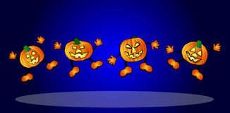 happy pumpkins Stock Images