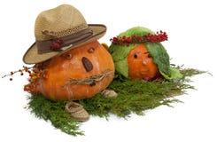 Happy pumpkins Stock Photos