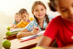 Happy pupil Royalty Free Stock Image