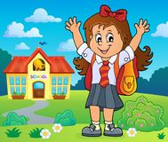 Free Happy Pupil Girl Theme Image 4 Royalty Free Stock Photography - 118680317