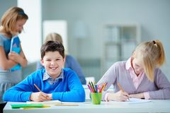 Happy pupil Royalty Free Stock Photography