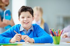 Happy pupil Stock Photos