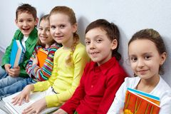 Happy pupils Royalty Free Stock Photo