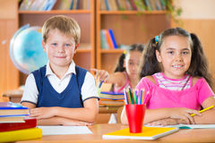Happy pupils at school Royalty Free Stock Photos