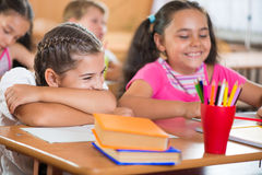 Happy pupils at school Stock Images