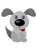 Happy Puppy. An illustration of a happy grey puppy, in various shades Stock Photography