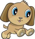Happy Puppy Dog Vector. Illustration Royalty Free Stock Photos
