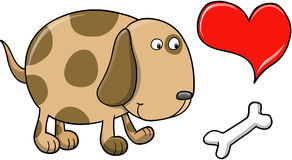 Happy Puppy Dog Vector Stock Images