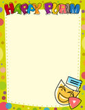 Happy Purim Blank Sign Royalty Free Stock Photography