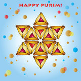 Happy Purim greeting card Royalty Free Stock Images