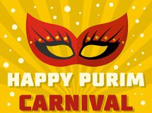 Happy purim logo, flat style. Happy purim logo. Flat illustration of happy purim logo for web Royalty Free Illustration
