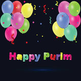 Happy Purim. Party colorful background. Happy Purim. Party colorful background with confetti Royalty Free Stock Photography