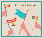 Happy Purim. Party or festival  Invitation design Royalty Free Stock Photography