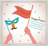Happy Purim. Party or festival  Invitation design. This is file of EPS10 format Stock Photography