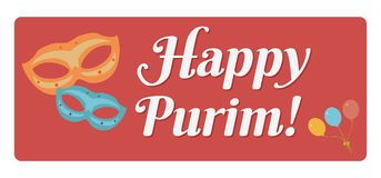 Happy purim sticker Royalty Free Stock Photos