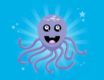 Happy Purple Octopus Royalty Free Stock Images