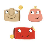 Happy purse and wallet. sale.  Stock Photos