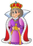 Happy queen. On white background -  illustration Royalty Free Stock Images
