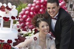 Happy Quinceanera With Partner Stock Images