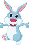 Happy rabbit cartoon Stock Images