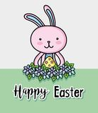 Happy rabbit easter holiday celebration. Vector illustration Royalty Free Stock Images