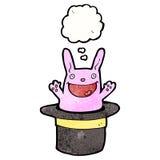 Happy rabbit in top hat Stock Images