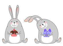 Happy rabbits Royalty Free Stock Images