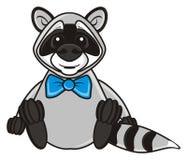 Happy raccoon sitting Stock Image
