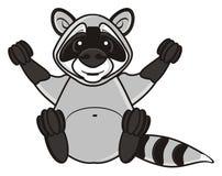 Happy raccoon sitting Royalty Free Stock Photography
