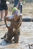 Happy racer covered in mud Royalty Free Stock Image