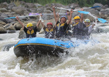 Happy rafting  Stock Photo