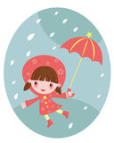 Happy rain Royalty Free Stock Images