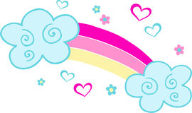 Happy Rainbow. Illustration on white background Royalty Free Stock Photos