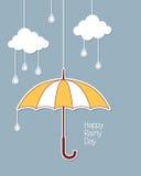 Happy rainy day Stock Image