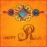 Happy Rakhi greeting card for indian holiday Royalty Free Stock Photography