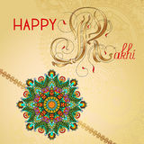 Happy Rakhi greeting card for indian holiday Royalty Free Stock Photo