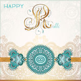 Happy Rakhi greeting card for indian holiday Royalty Free Stock Images