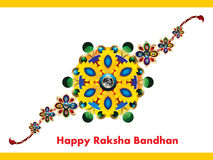 Happy Raksha Bandhan Background with rakhi Royalty Free Stock Images