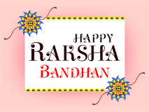 Happy  Raksha Bandhan Celebration Background. Vector illustration Stock Image