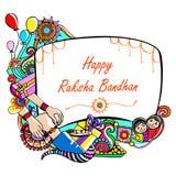 Happy Raksha Banhan Stock Photography