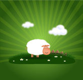 Happy ram. Illustration of funny happy ram Royalty Free Stock Photo