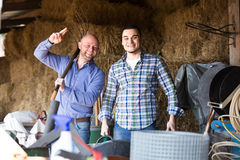 Happy ranchers at work Stock Photography