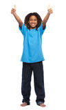 Happy rasta kid with thumbs up Stock Image
