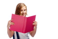 Happy reader Royalty Free Stock Photo