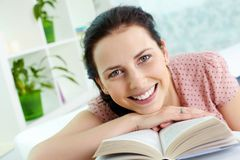 Happy reader Royalty Free Stock Photography