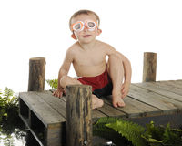 Happy Ready Swimmer Stock Photography